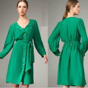 DIANE VON FURSTENBERG pleated silk Aniya dress